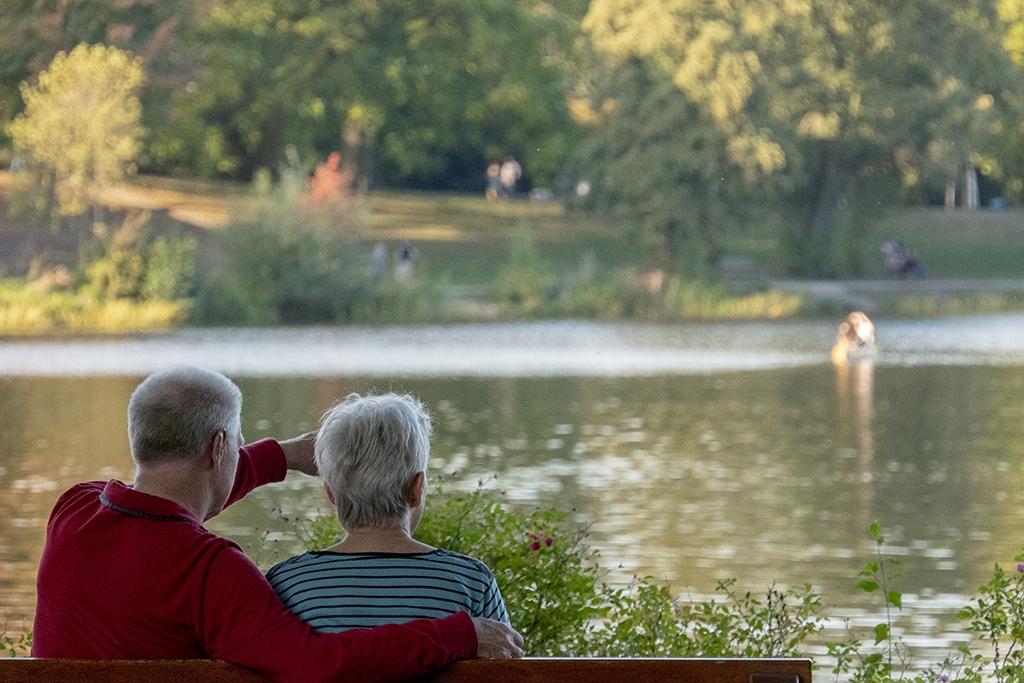 Entspannung im Stadtpark Hamburg