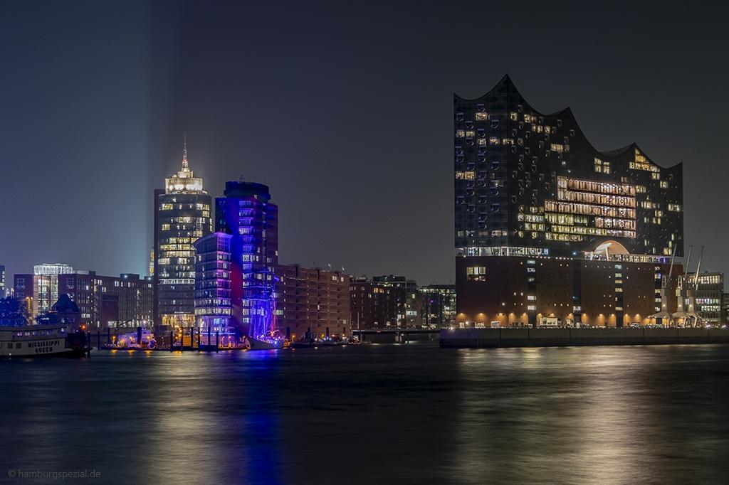 Blick auf die Elbphilharmonie am Hamburger Hafen