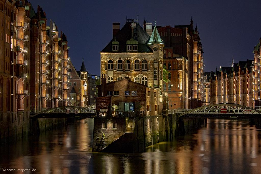 Das Wasserschloss in der Speicherstadt