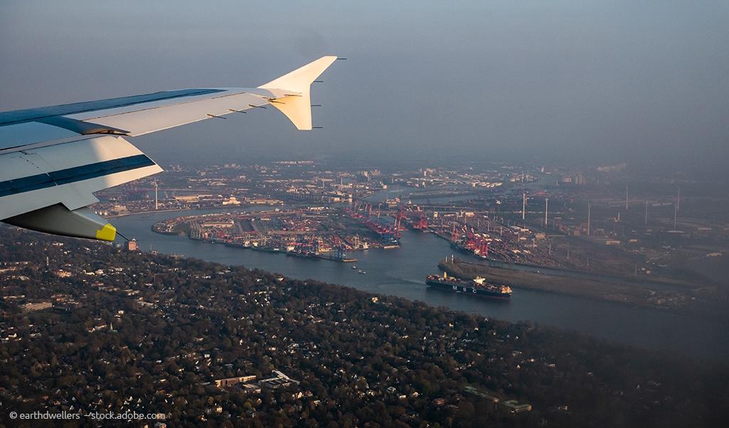 Landeanflug Hamburg