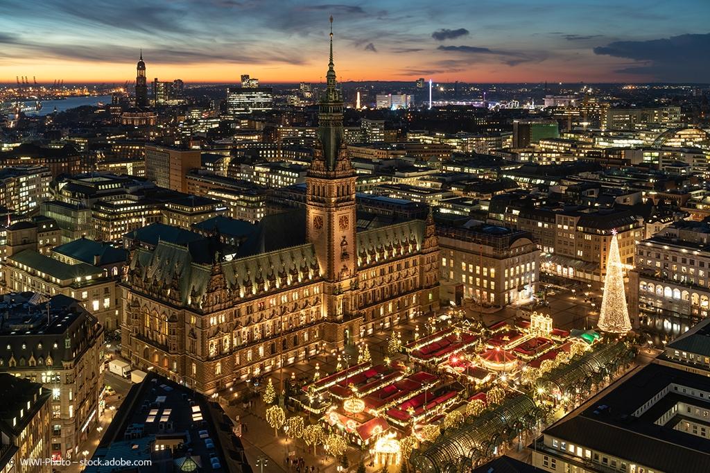 Weihnachtsmarkt Hamburg von Oben